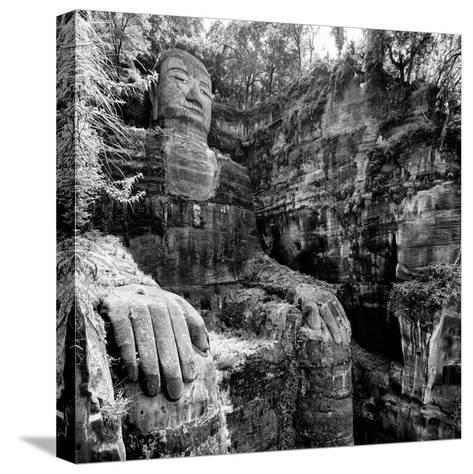 China 10MKm2 Collection - Giant Buddha of Leshan-Philippe Hugonnard-Stretched Canvas Print