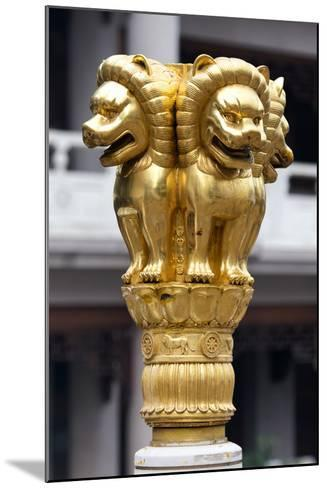 China 10MKm2 Collection - Golden Chinese Lion Statue Jing An Temple - Shanghai-Philippe Hugonnard-Mounted Photographic Print