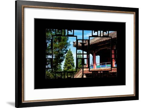 China 10MKm2 Collection - Asian Window - Chinese Temple-Philippe Hugonnard-Framed Art Print