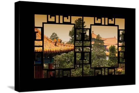 China 10MKm2 Collection - Asian Window - Roofs of Forbidden City at Sunset - Beijing-Philippe Hugonnard-Stretched Canvas Print
