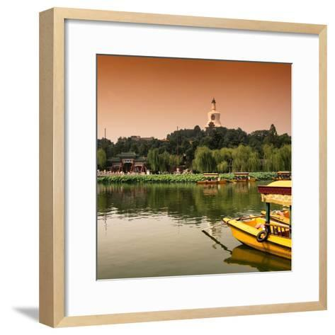 China 10MKm2 Collection - Beihai Park at Sunset - Beijing-Philippe Hugonnard-Framed Art Print