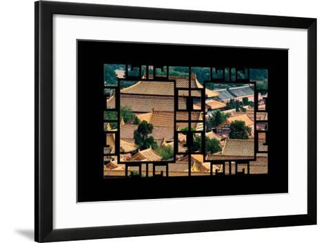China 10MKm2 Collection - Asian Window - Roofs of Forbidden City - Beijing-Philippe Hugonnard-Framed Art Print