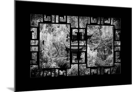 China 10MKm2 Collection - Asian Window - Chinese Pavilion in Garden-Philippe Hugonnard-Mounted Photographic Print