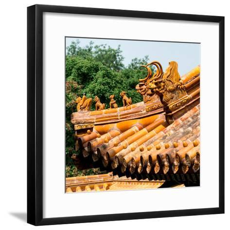 China 10MKm2 Collection - Detail of Lama Temple-Philippe Hugonnard-Framed Art Print