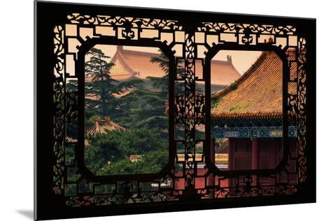 China 10MKm2 Collection - Asian Window - Roofs of Forbidden City at Sunset - Beijing-Philippe Hugonnard-Mounted Photographic Print