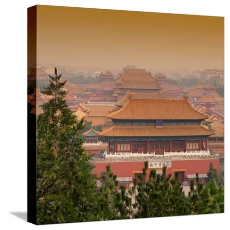 China 10MKm2 Collection - Forbidden City at sunset - Beijing-Philippe Hugonnard-Stretched Canvas Print