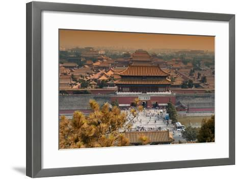 China 10MKm2 Collection - Forbidden City in autumn - Beijing-Philippe Hugonnard-Framed Art Print