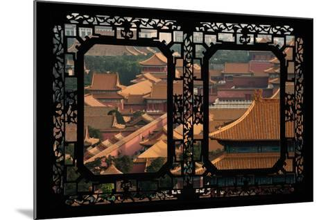 China 10MKm2 Collection - Asian Window - Roofs of Forbidden City - Beijing-Philippe Hugonnard-Mounted Photographic Print