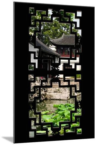 China 10MKm2 Collection - Asian Window - Chinese Temple-Philippe Hugonnard-Mounted Photographic Print