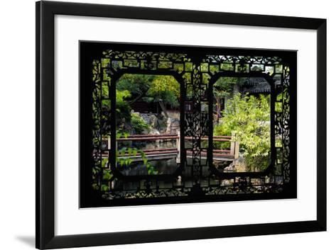 China 10MKm2 Collection - Asian Window - Chinese Garden-Philippe Hugonnard-Framed Art Print