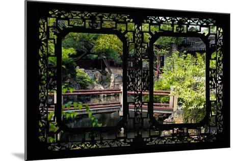 China 10MKm2 Collection - Asian Window - Chinese Garden-Philippe Hugonnard-Mounted Photographic Print