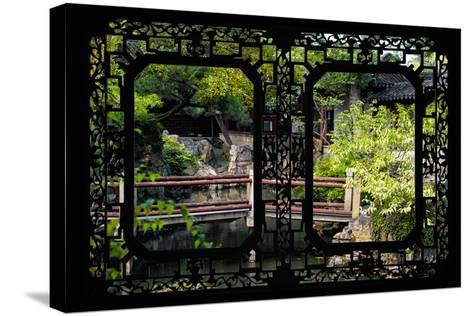 China 10MKm2 Collection - Asian Window - Chinese Garden-Philippe Hugonnard-Stretched Canvas Print