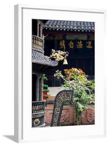 China 10MKm2 Collection - Detail of Brazier and Pagoda-Philippe Hugonnard-Framed Art Print
