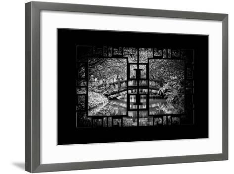 China 10MKm2 Collection - Asian Window - Romantic Bridge-Philippe Hugonnard-Framed Art Print