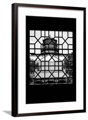 China 10MKm2 Collection - Asian Window - Summer Palace Temple-Philippe Hugonnard-Framed Art Print