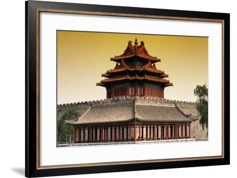 China 10MKm2 Collection - Chinese Architecture at Sunset - Forbidden City - Beijing-Philippe Hugonnard-Framed Art Print