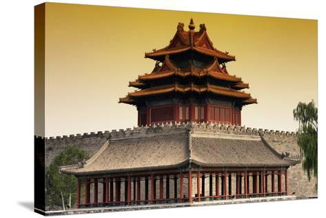 China 10MKm2 Collection - Chinese Architecture at Sunset - Forbidden City - Beijing-Philippe Hugonnard-Stretched Canvas Print