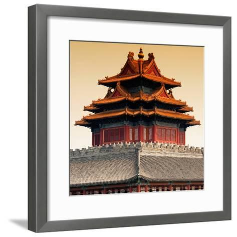 China 10MKm2 Collection - Chinese Architecture - Forbidden City - Beijing-Philippe Hugonnard-Framed Art Print