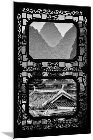 China 10MKm2 Collection - Asian Window - Chinese Buddhist Temple with Karst Mountains-Philippe Hugonnard-Mounted Photographic Print