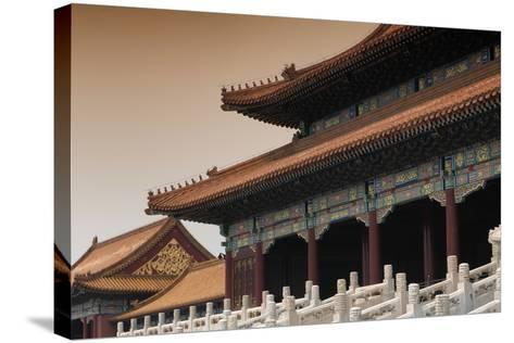 China 10MKm2 Collection - Forbidden City Architecture-Philippe Hugonnard-Stretched Canvas Print