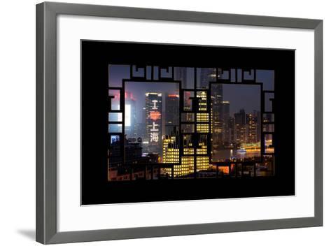 China 10MKm2 Collection - Asian Window - I Love Shanghai-Philippe Hugonnard-Framed Art Print