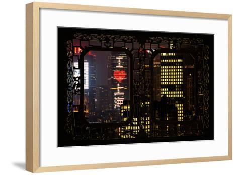 China 10MKm2 Collection - Asian Window - I Love Shanghai-Philippe Hugonnard-Framed Art Print