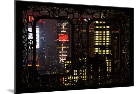 China 10MKm2 Collection - Asian Window - I Love Shanghai-Philippe Hugonnard-Mounted Photographic Print