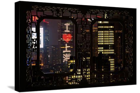 China 10MKm2 Collection - Asian Window - I Love Shanghai-Philippe Hugonnard-Stretched Canvas Print