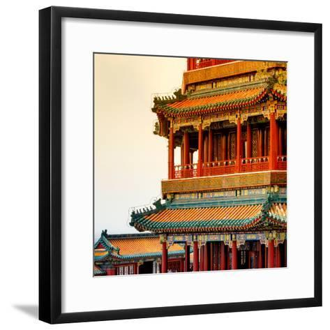 China 10MKm2 Collection - Detail of Summer Palace at sunset-Philippe Hugonnard-Framed Art Print