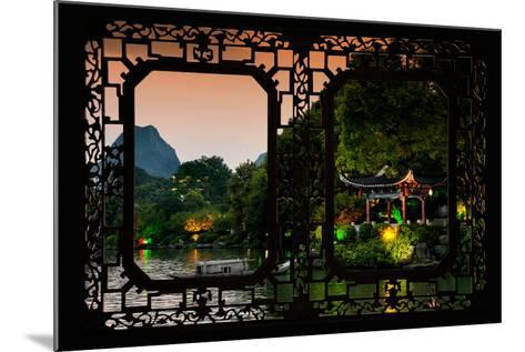 China 10MKm2 Collection - Asian Window - Guilin at night-Philippe Hugonnard-Mounted Photographic Print