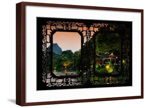 China 10MKm2 Collection - Asian Window - Guilin at night-Philippe Hugonnard-Framed Art Print