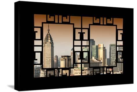 China 10MKm2 Collection - Asian Window - Shanghai Cityscape-Philippe Hugonnard-Stretched Canvas Print