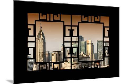 China 10MKm2 Collection - Asian Window - Shanghai Cityscape-Philippe Hugonnard-Mounted Photographic Print