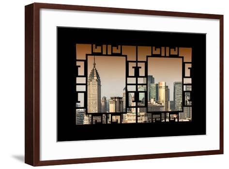 China 10MKm2 Collection - Asian Window - Shanghai Cityscape-Philippe Hugonnard-Framed Art Print