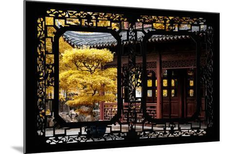 China 10MKm2 Collection - Asian Window - Classical Chinese Pavilion Fall Colors-Philippe Hugonnard-Mounted Photographic Print