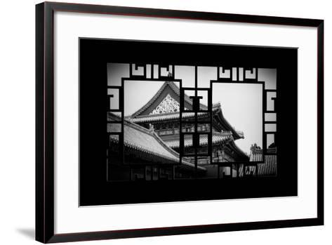 China 10MKm2 Collection - Asian Window - Forbidden City-Philippe Hugonnard-Framed Art Print