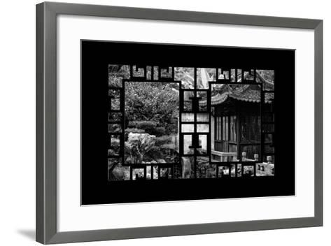 China 10MKm2 Collection - Asian Window - Classical Chinese Pavilion-Philippe Hugonnard-Framed Art Print