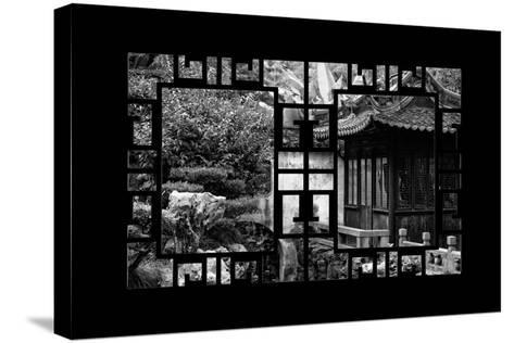 China 10MKm2 Collection - Asian Window - Classical Chinese Pavilion-Philippe Hugonnard-Stretched Canvas Print