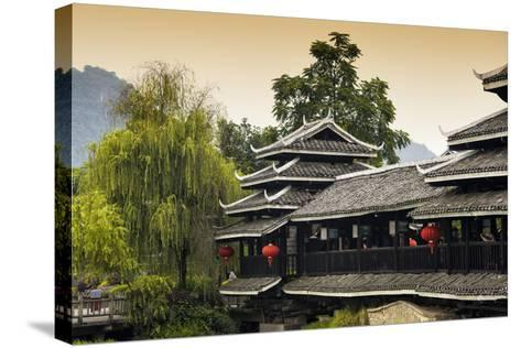 China 10MKm2 Collection - Chinese Buddhist Temple-Philippe Hugonnard-Stretched Canvas Print