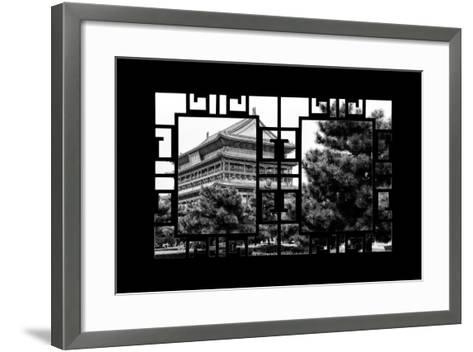 China 10MKm2 Collection - Asian Window - Temple Xi'an-Philippe Hugonnard-Framed Art Print