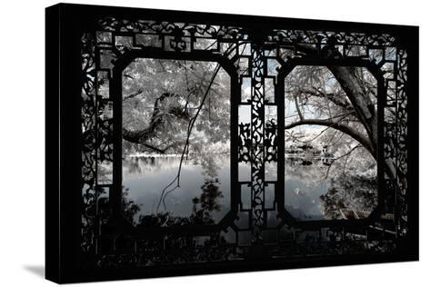 China 10MKm2 Collection - Asian Window - Another Look Series - White Thinking-Philippe Hugonnard-Stretched Canvas Print