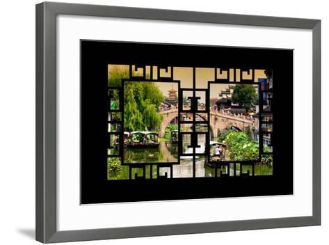 China 10MKm2 Collection - Asian Window - Shanghai Water Town - Qibao-Philippe Hugonnard-Framed Art Print