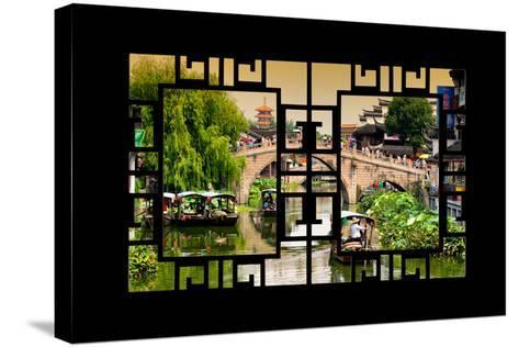 China 10MKm2 Collection - Asian Window - Shanghai Water Town - Qibao-Philippe Hugonnard-Stretched Canvas Print