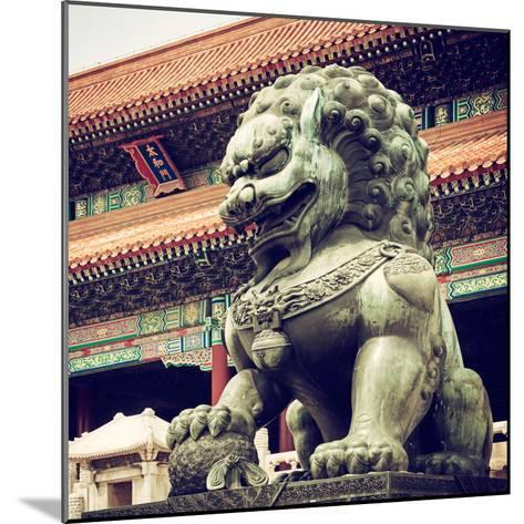 China 10MKm2 Collection - Bronze Chinese Lion in Forbidden City-Philippe Hugonnard-Mounted Photographic Print