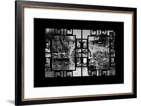 China 10MKm2 Collection - Asian Window - Shanghai Water Town - Qibao-Philippe Hugonnard-Framed Art Print
