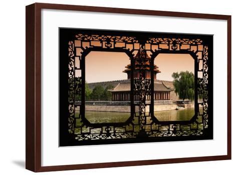 China 10MKm2 Collection - Asian Window - Watchtower - Forbidden City-Philippe Hugonnard-Framed Art Print