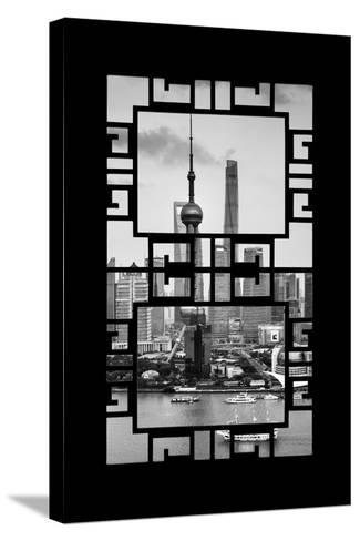 China 10MKm2 Collection - Asian Window - Shanghai Tower-Philippe Hugonnard-Stretched Canvas Print