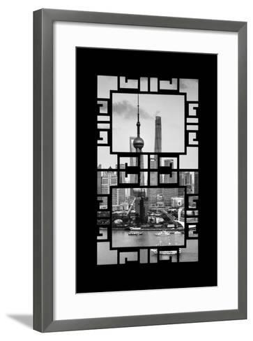 China 10MKm2 Collection - Asian Window - Shanghai Tower-Philippe Hugonnard-Framed Art Print