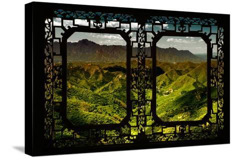 China 10MKm2 Collection - Asian Window - Great Wall of China-Philippe Hugonnard-Stretched Canvas Print