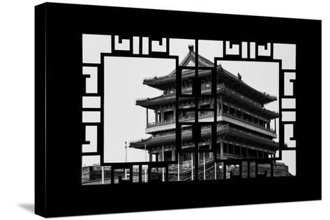 China 10MKm2 Collection - Asian Window - Qianmen Temple - Beijing-Philippe Hugonnard-Stretched Canvas Print